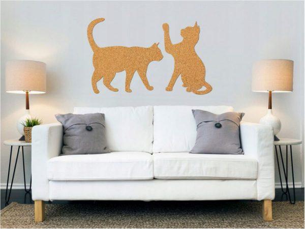 Katter Kork Klistermärke